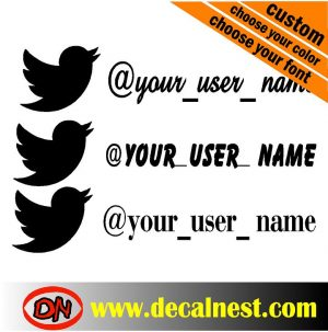 twitter user namer decal